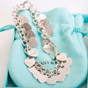 ISO Tiffany and Co multi heart bracelet